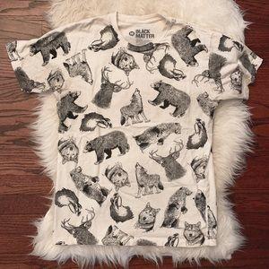 Men's Wolf, Bear, Deer Wildlife Tee